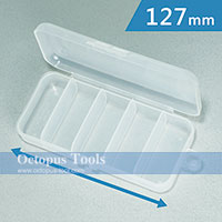 Plastic Box 5 Compartments 127x56x28mm
