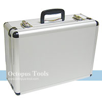 Aluminum Storage Case 450x325x170mm, w/ Removable Panels, White