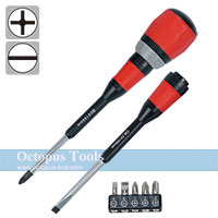 7 in 1 Exchangeable Ratcheting Screwdriver Set