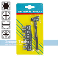 Mini Ratcheting Screwdriver and Bit Set 11pcs/set