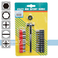 Ratcheting Screwdriver and Bit Set 17pcs/set