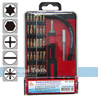 Ratcheting Screwdriver and Bit Set 30pcs/set