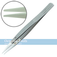 Ceramic Replacement Tweezers Round Point Tip 1.0mm