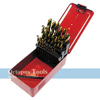 Titanium Twist Drill Bit Set 1-13mm 25pcs