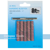 Sanding Sleeves and Sandpaper Mandrel Set 6mm Shank O.D. 8mm